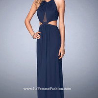 Dresses, Formal, Prom Dresses, Evening Wear: Long Prom Dress with Side Cut Outs by La Femme