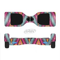 The Pink & Teal Abstract Mirrored Design Full-Body Skin Set for the Smart Drifting SuperCharged iiRov HoverBoard