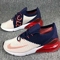 Nike Air Max 270 Nike Max 270 Knitting Flying Line Half Palm Shock Cushion Shockproof Sports Shoes