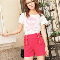 Summer Lace Zippered Shorts