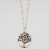Full Tilt Rhinestone Tree Necklace Gold One Size For Women 18412262101