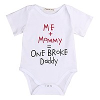 Summer 2017 Cotton Newborn Infant Baby Boy Girls Shoer Sleeve Romper Jumpsuit Clothes Outfits