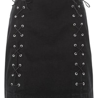 MOTO Front Lace A-Line Skirt - Clothing