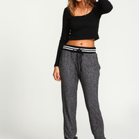 Sporty Speckled Knit Jogger Pants