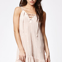 Kendall and Kylie Strappy Lace-Up Slip Dress at PacSun.com
