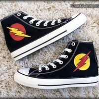 The Flash and Reverse Flash Custom Converse / Painted Shoes