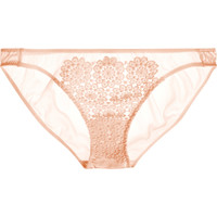 Mimi Holliday by Damaris - Puffin guipure lace and stretch-silk satin briefs