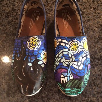 Custom TOMS Shoes ( Starry Night pictured )