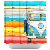 Playing Hooky by Danny Phillips Fabric Shower Curtain