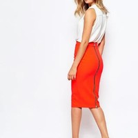 River Island | River Island Zip Back Pencil Skirt at ASOS