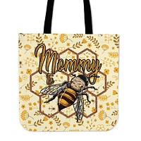 Mommy To Bee Linen Tote Bag