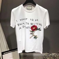 NEW 100% Authentic gucci 2018ss flowers t shirt ※024
