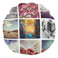 Create Your Own Instagram Round Pillow
