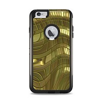 The Warped Gold-Plated Mosaic Apple iPhone 6 Plus Otterbox Commuter Case Skin Set