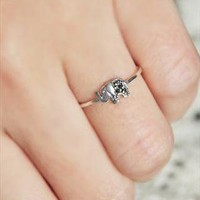 Sterling Silver Lovely Elephant Ring from tulitajean