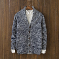 Casual Mens Comfortable Winter Warm Slim Fit Cardigan Sweater Knitwear