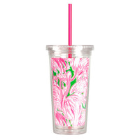 Lilly Pulitzer Tumbler with Straw - Pink Colony