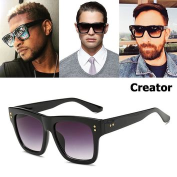 CREATOR Style Gradient Square Sunglasses for Men