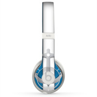 The Vector Blue and Gray Anchor with White Stripe Skin for the Beats by Dre Solo 2 Headphones