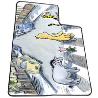 winnie the pooh on the road  for Kids Blanket, Fleece Blanket Cute and Awesome Blanket for your bedding, Blanket fleece *AD*
