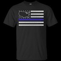United States Thin Blue Line Police State