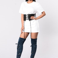 Trends On Trends Dress - White