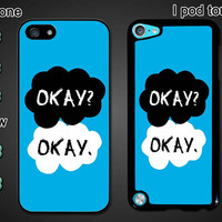 The Fault in Our Stars, OK, personalized Iphone4 case, Iphone4s case, Iphone5 case, Iphone 5S case, 5C case, galaxy S3/S4 case, I touch case