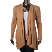 Charter Club Womens Plus Ribbed Knit Long Sleeves Cardigan Sweater