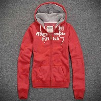 Abercrombie & Fitch Women Fashion Casual Cardigan Jacket Coat Hoodie-5