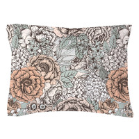 Muted Floral Pillow Shams