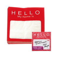 DCi Napkin Notes 20 Pack Set Hello My Name Is Funny Dinner Party Decor Host Gift