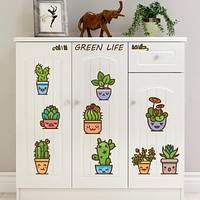 Tropical Succulent Plants Cactus Wall Stickers