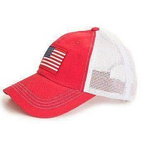 American Flag Trucker Hat in Red by State Traditions