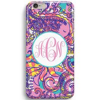 Sumer Sea And Be See Custom Mono Inspired Lilly Pulitzer  iPhone 6 Case, iPhone 5S Case