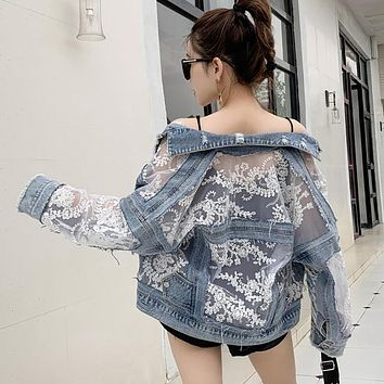 Summer Denim and Lace Jacket