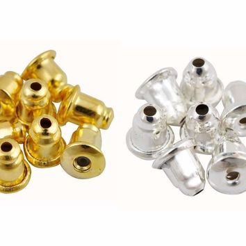 Replacement Earring Backs Stopper/Bullet Style Gold, Silver or Mixed For Woman