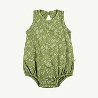 Tropical Leaves Summer Bubble Romper 6-9m