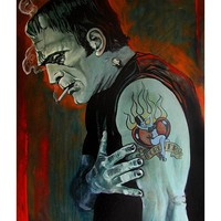 Brokenhearted by Mike Bell Fine Art Giclee Canvas Print