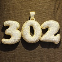 Custom Big Size Numbers Bubble Letters Pendant