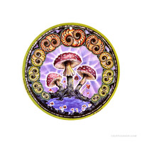 Psychedelic Mushroom Air Freshener on Sale for $2.99 at HippieShop.com