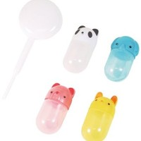 CuteZCute Bento Soy Sauce Case Container with Dropper, Animals