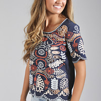 JOA: embroidered masterpiece scallop top