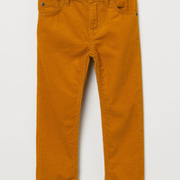 Corduroy Pants - Mustard yellow - Kids | H&M US