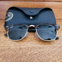Ray-Ban Clubmaster RB3016-49 Sunglasses; New Without Tags; Includes Case & Cloth