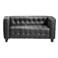 Zuo Modern Button Love Seat in Black