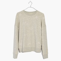 Daisy Embroidered Mainstay Sweatshirt : shopmadewell sweatshirts | Madewell