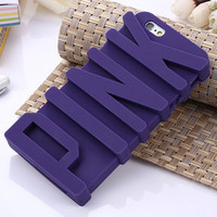 """PINK Letter Phone Case For iPhone 6 6S 4.7""""/6 Plus"""