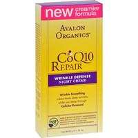 Avalon Organics CoQ10 Wrinkle Defense Night Creme - 1.75 fl oz