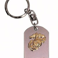 USMC Dog Tag Key Chain