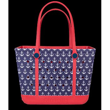 Simply Southern Large Anchor Beach Waterproof Washable Tote Bag